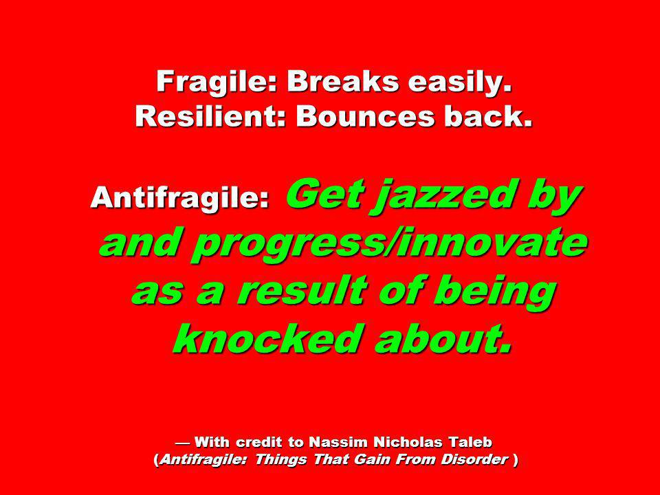 Fragile: Breaks easily. Resilient: Bounces back