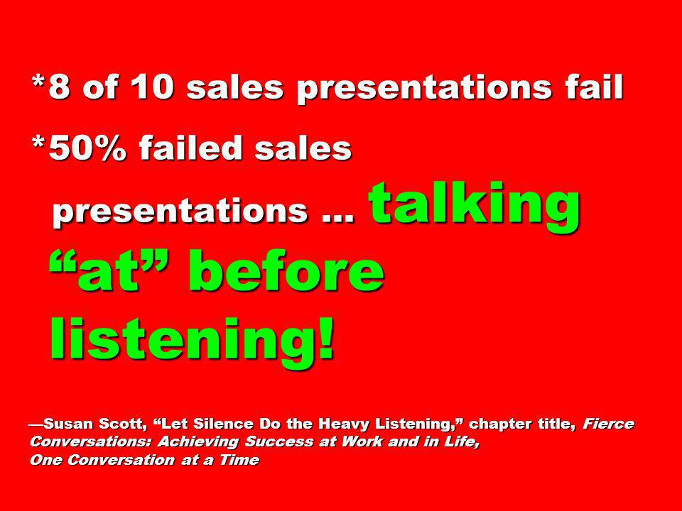 8 of 10 sales presentations fail