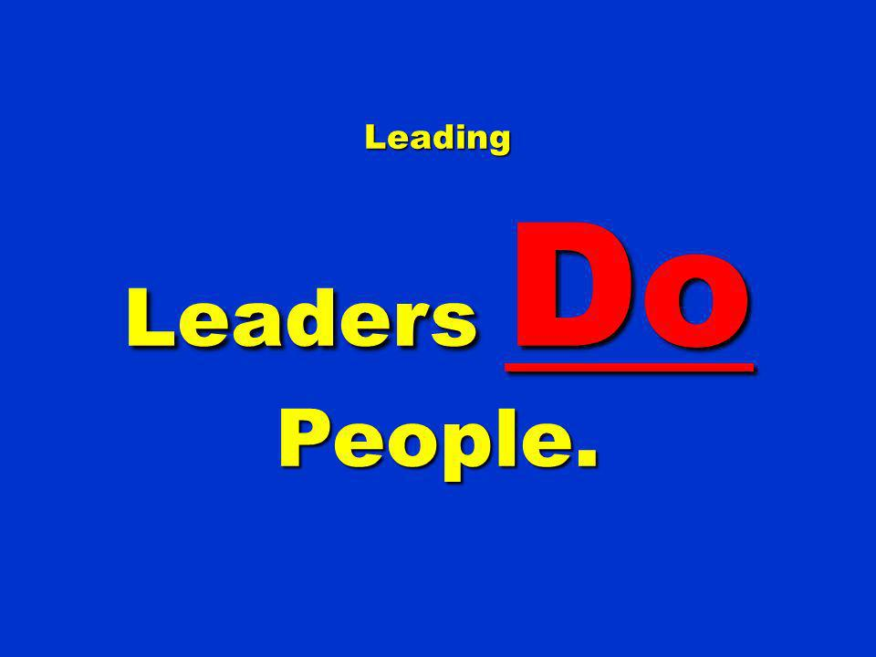 Leading Leaders Do People