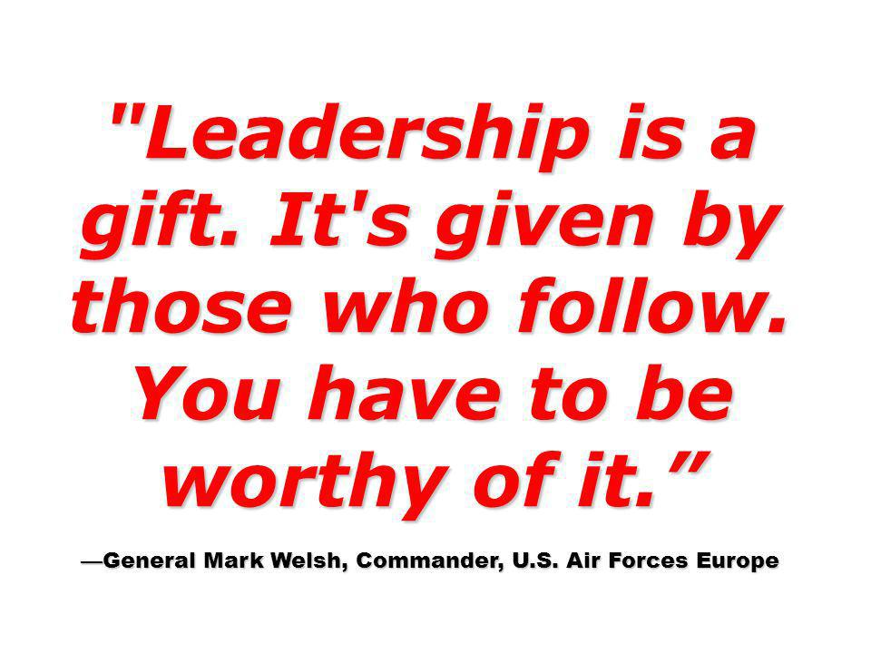 —General Mark Welsh, Commander, U.S. Air Forces Europe