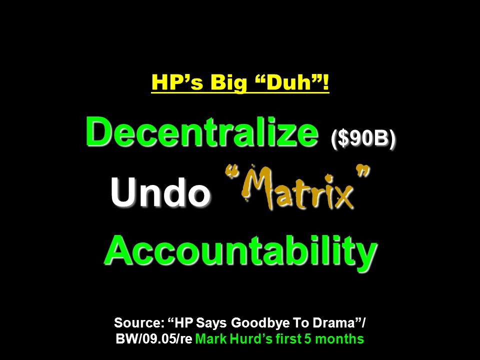 HP's Big Duh .