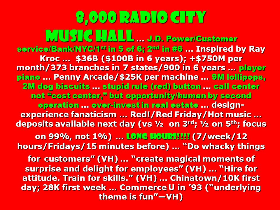 8,000 Radio City Music Hall … J. D