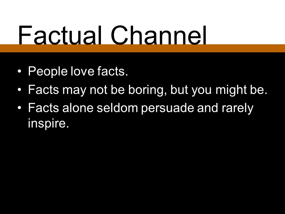 Factual Channel People love facts.