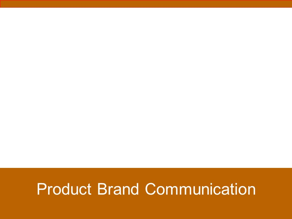 Product Brand Communication