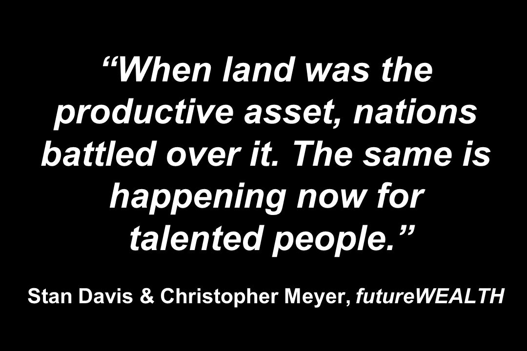 When land was the productive asset, nations battled over it