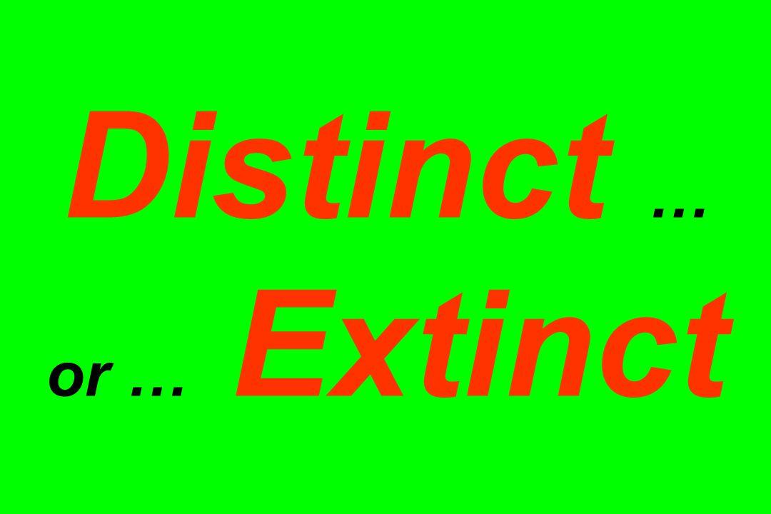 Distinct … or … Extinct