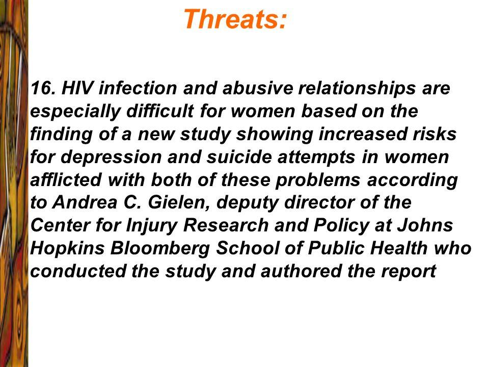 Threats: