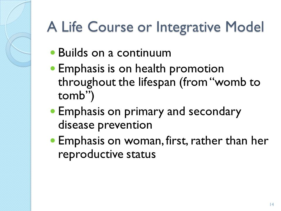A Life Course or Integrative Model