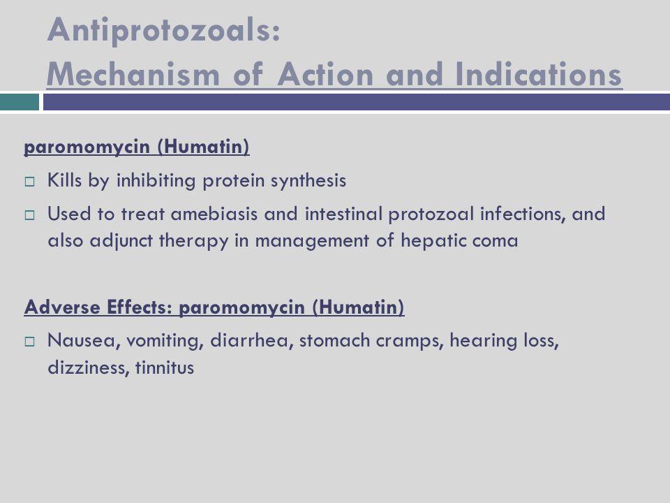 anthelmintics mechanism of action pdf