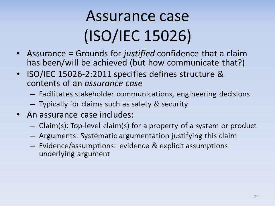 Assurance case (ISO/IEC 15026)