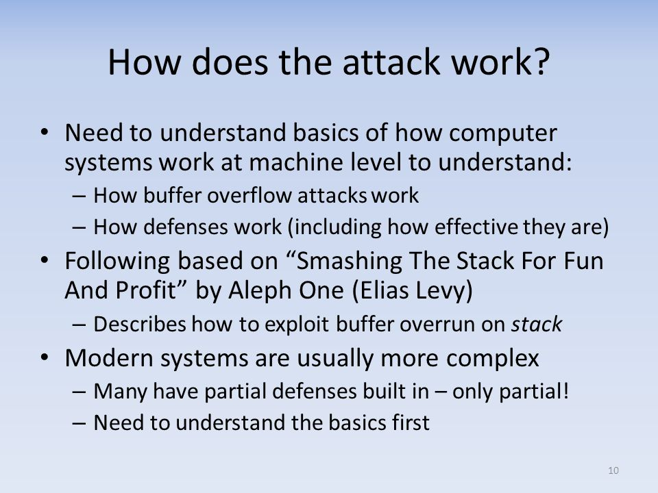 How does the attack work