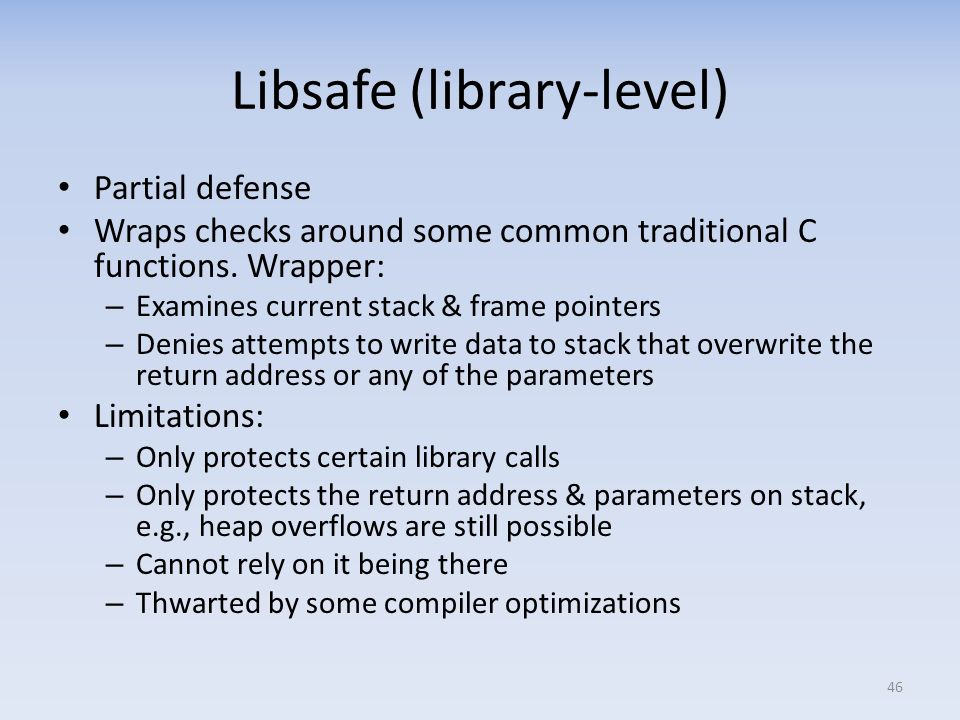 Libsafe (library-level)