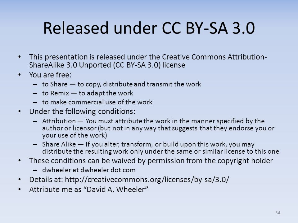 Released under CC BY-SA 3.0