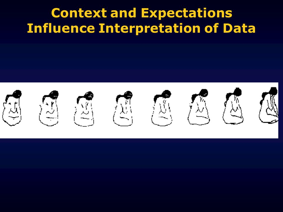 Context and Expectations Influence Interpretation of Data