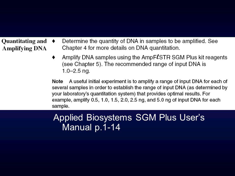 Applied Biosystems SGM Plus User's Manual p.1-14