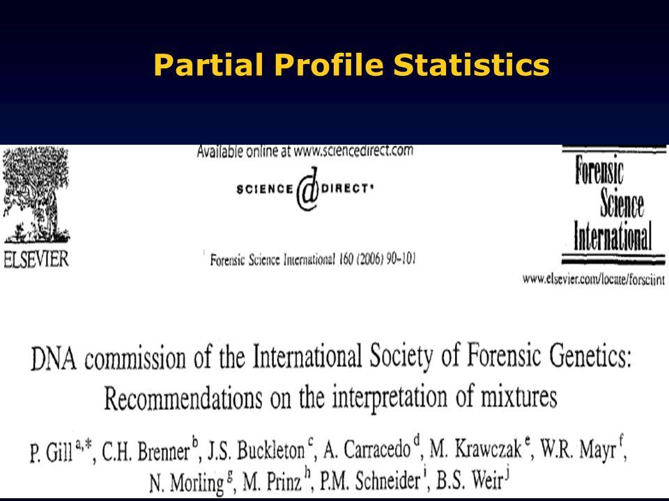 Partial Profile Statistics