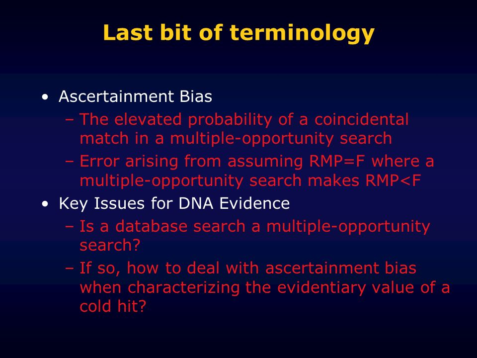 Last bit of terminology