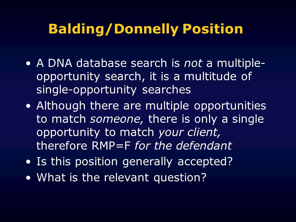 Balding/Donnelly Position