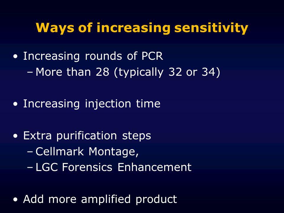 Ways of increasing sensitivity