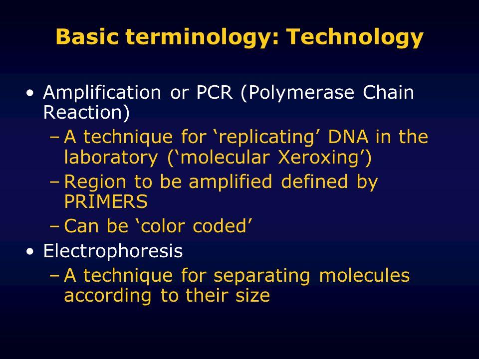 Basic terminology: Technology
