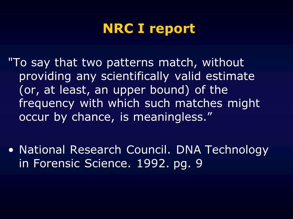 NRC I report