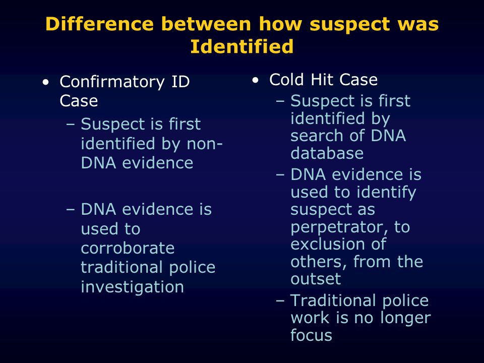 Difference between how suspect was Identified