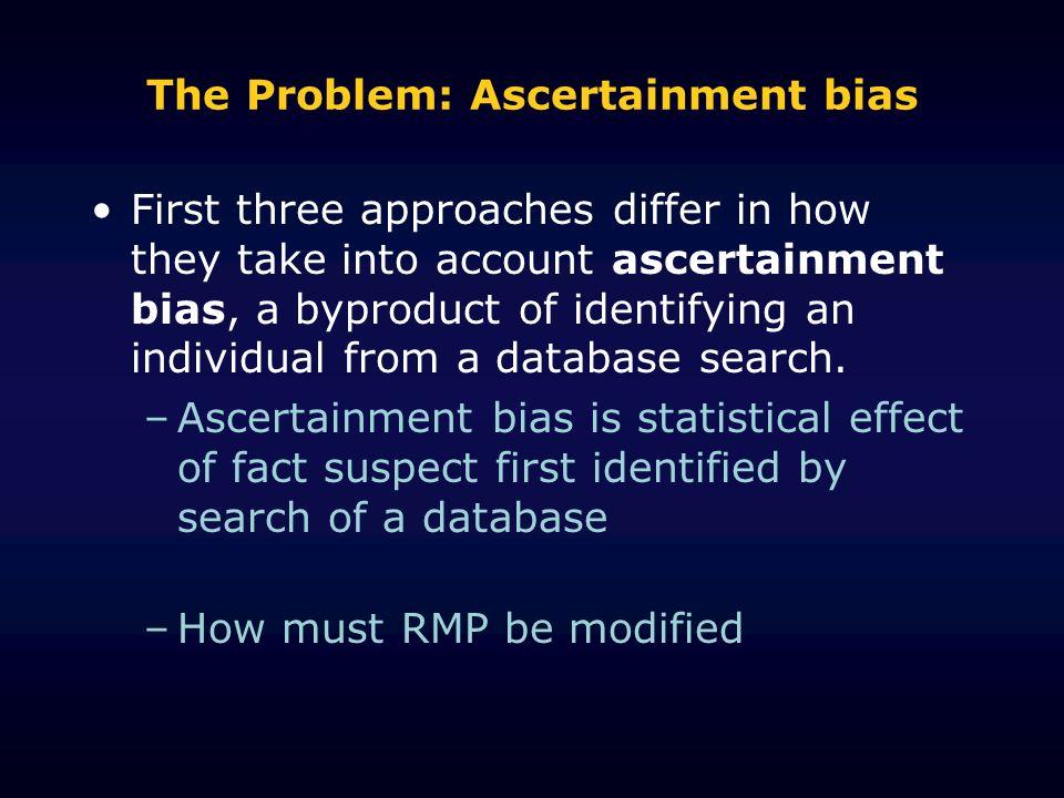 The Problem: Ascertainment bias
