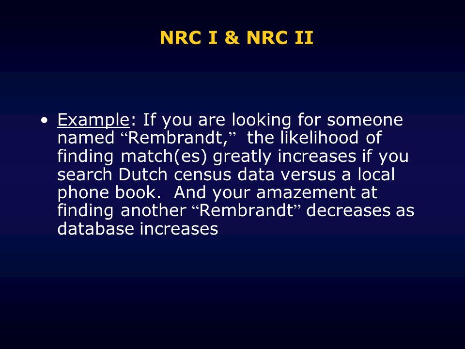 NRC I & NRC II
