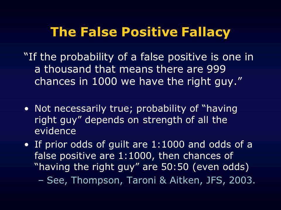 The False Positive Fallacy