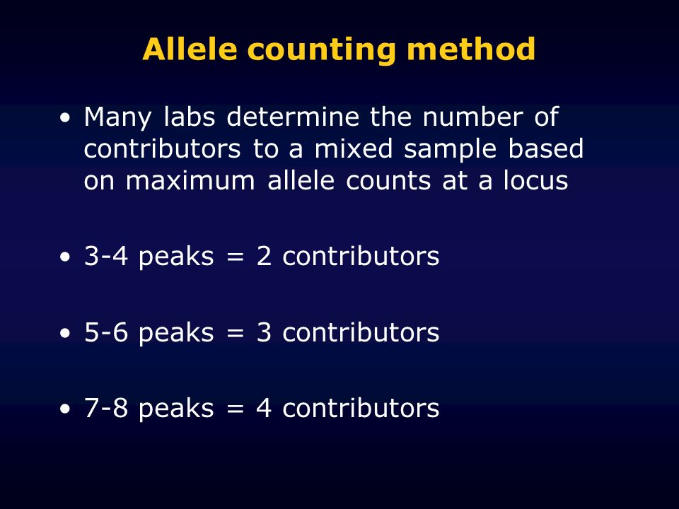 Allele counting method
