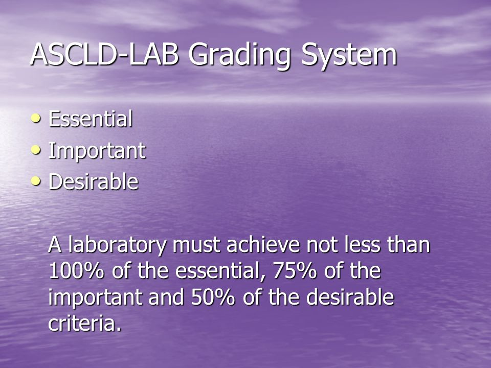ASCLD-LAB Grading System