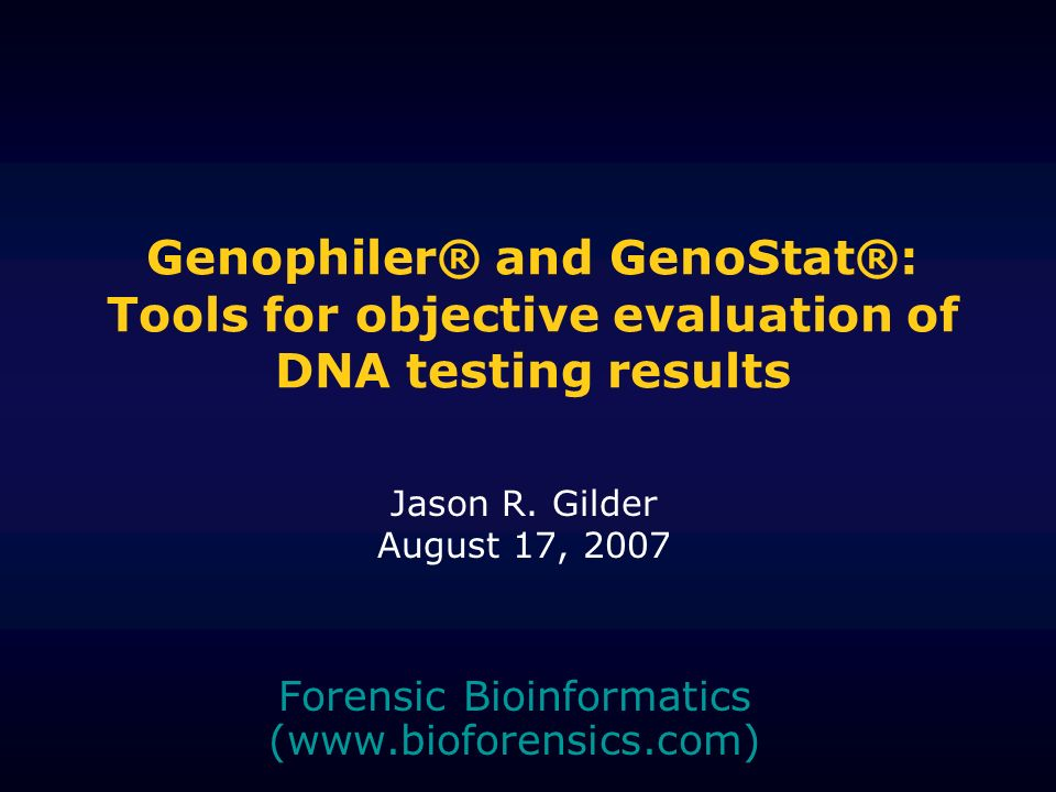 Forensic Bioinformatics (www.bioforensics.com)