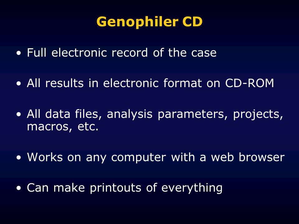 Genophiler CD Full electronic record of the case