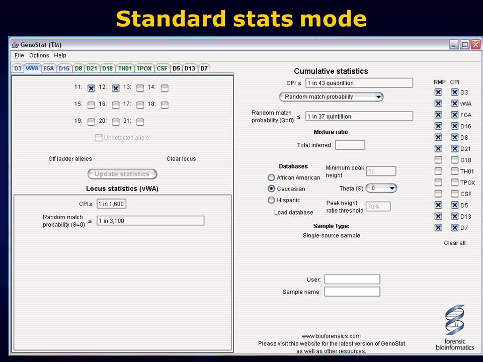Standard stats mode