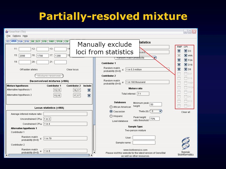 Partially-resolved mixture