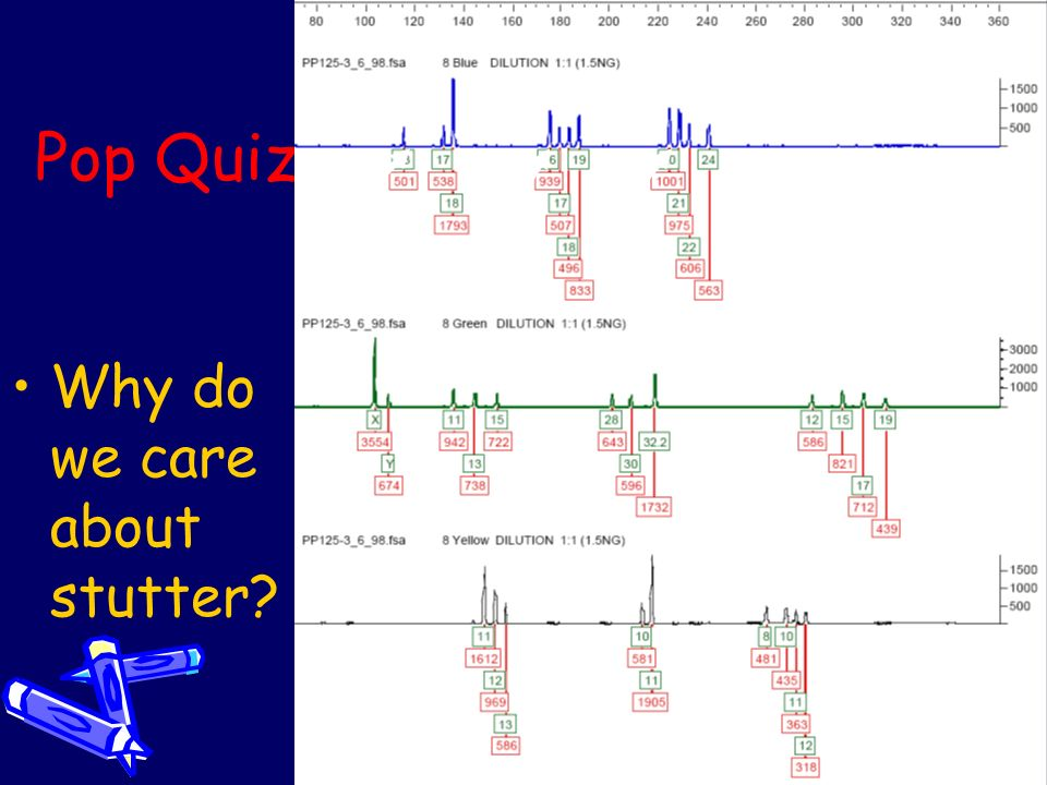 Pop Quiz Why do we care about stutter
