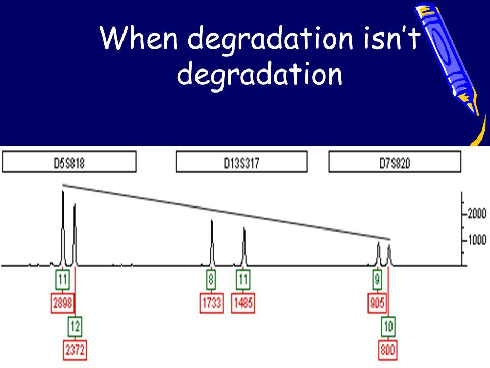 When degradation isn't degradation
