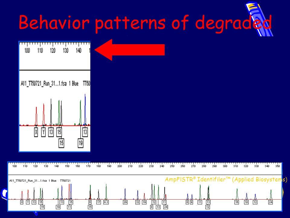 Behavior patterns of degraded DNA