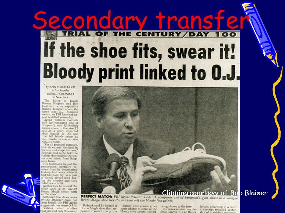 Secondary transfer Clipping courtesy of Bob Blaiser
