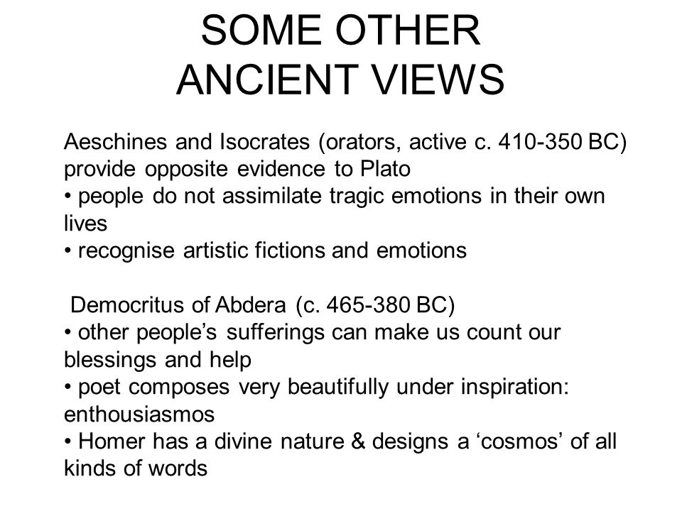 SOME OTHER ANCIENT VIEWS