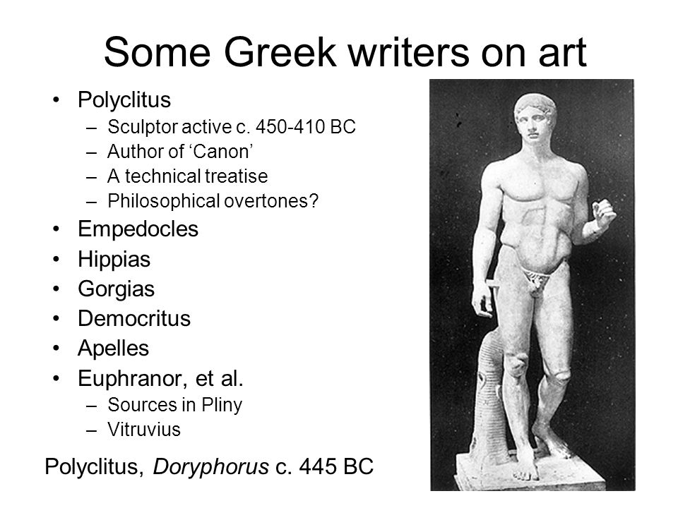 Some Greek writers on art