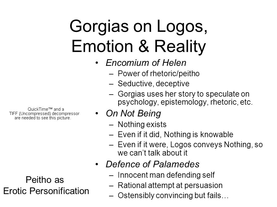 Gorgias on Logos, Emotion & Reality