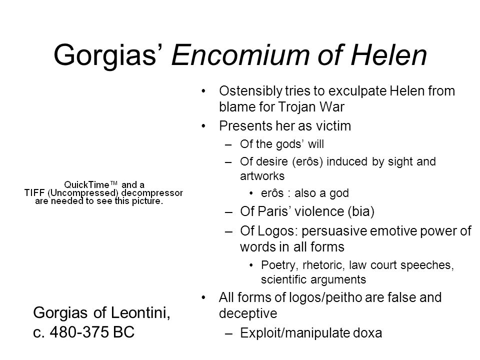 Gorgias' Encomium of Helen