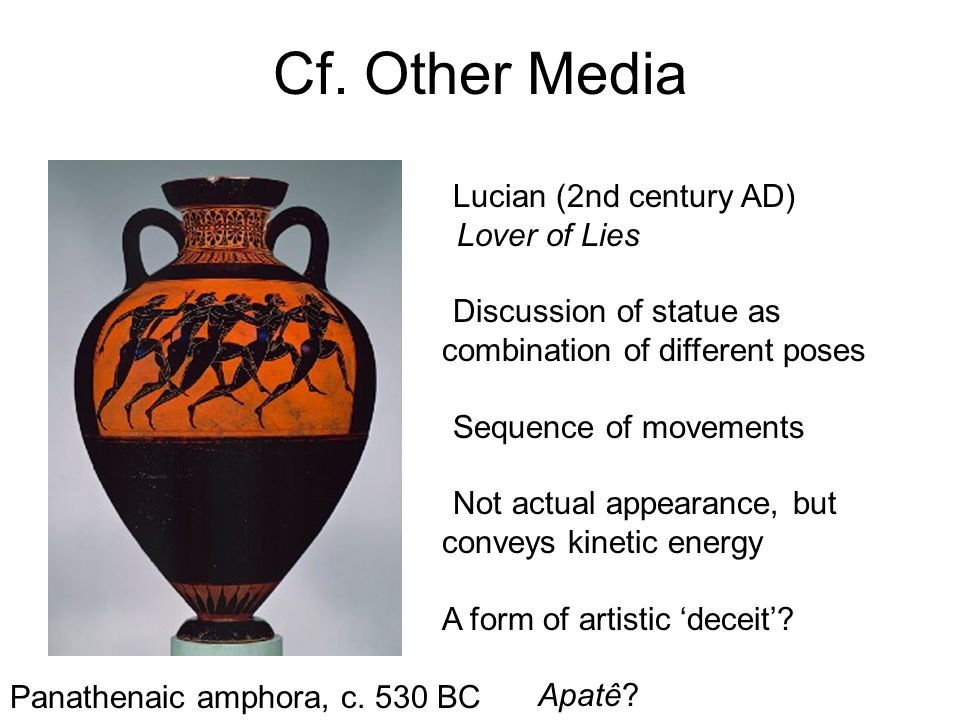 Cf. Other Media Lucian (2nd century AD)