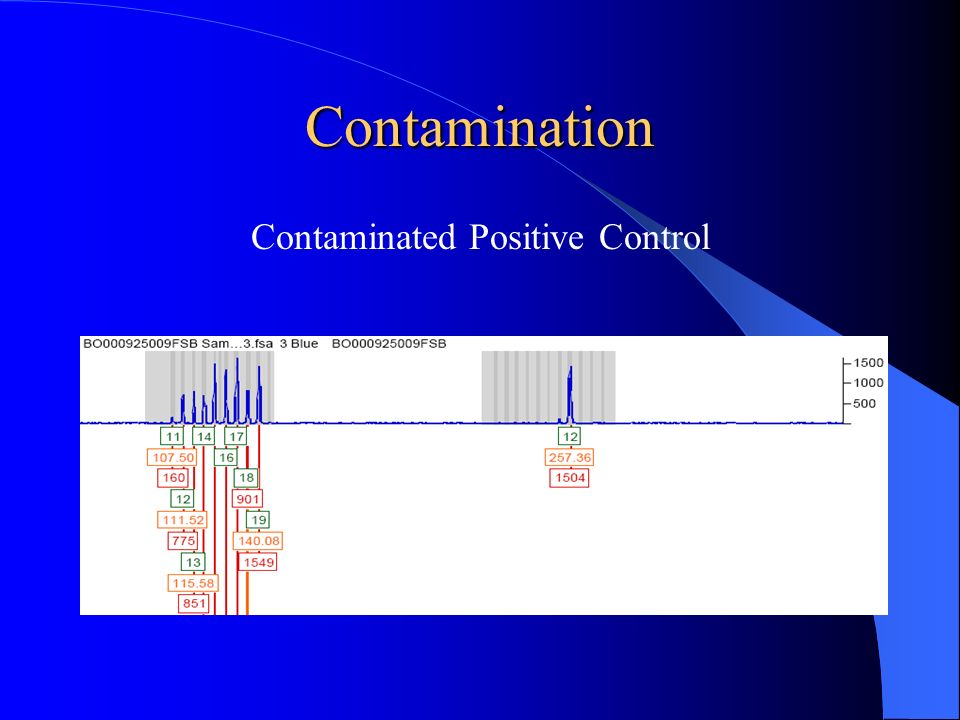 Contaminated Positive Control