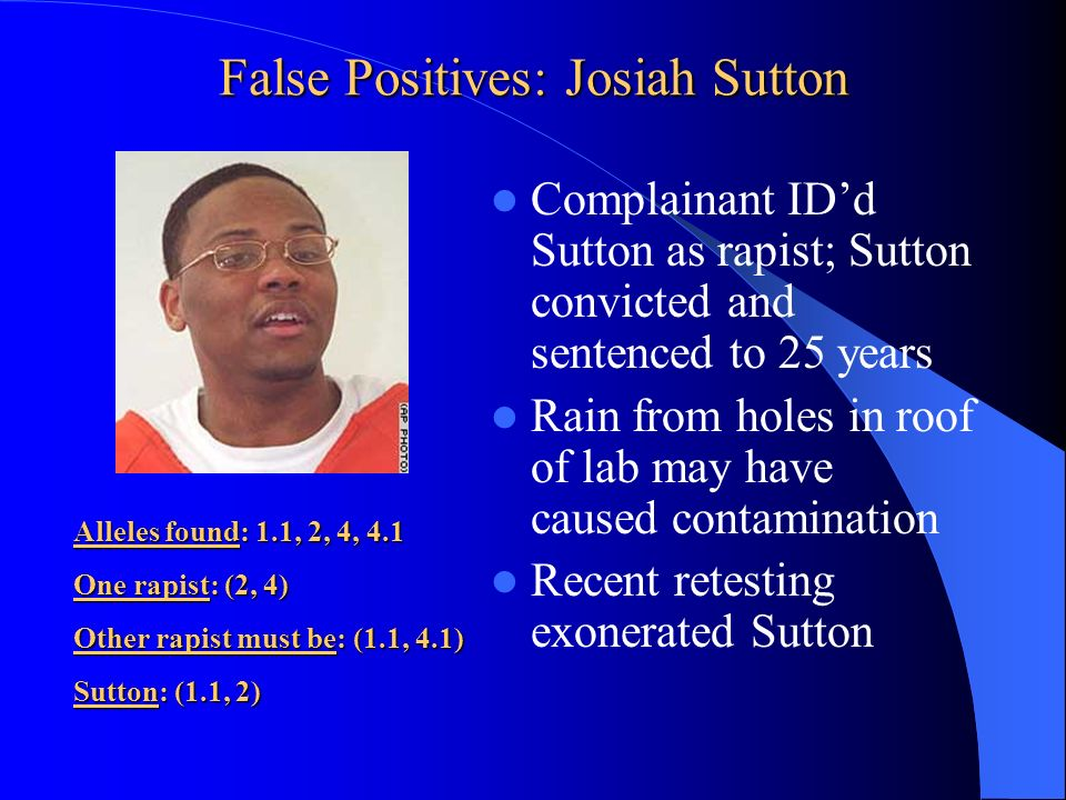 False Positives: Josiah Sutton