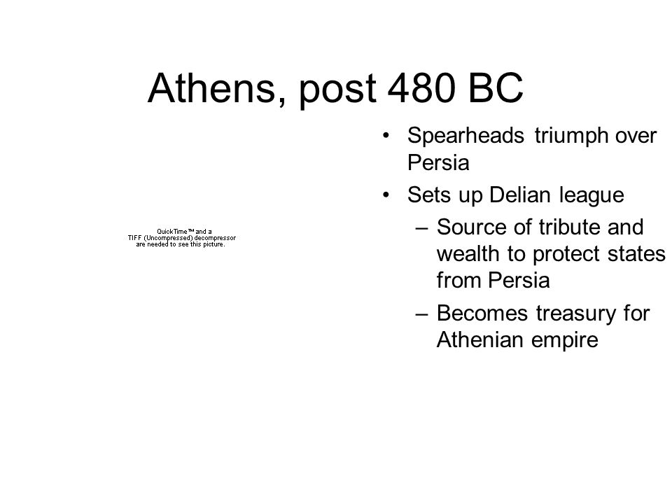 Athens, post 480 BC Spearheads triumph over Persia