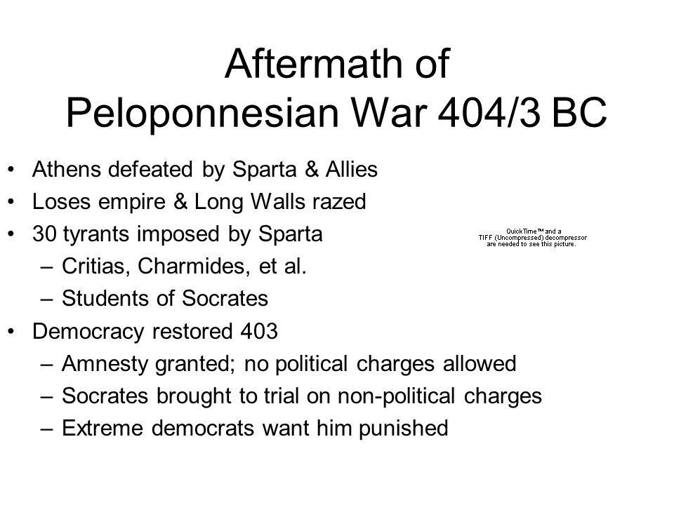 Aftermath of Peloponnesian War 404/3 BC