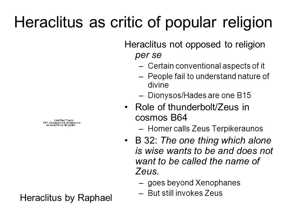 Heraclitus as critic of popular religion