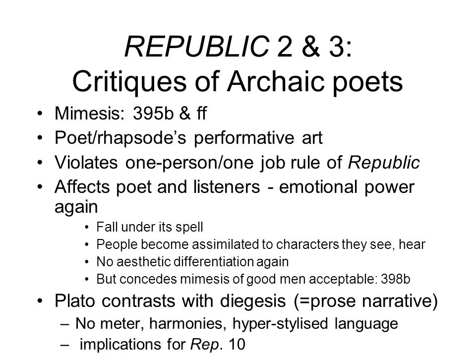 what affects art in the republic by socrates Notes on plato 's republic  the republic is a fantastic work of art  and asks that socrates describe not the social effects of a.